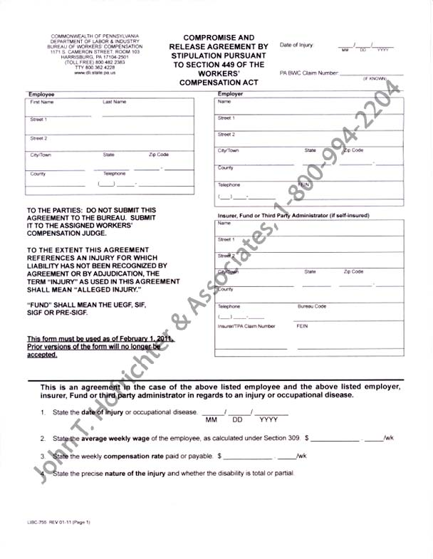 Sample Of Compromise And Release Agreement Legal Form